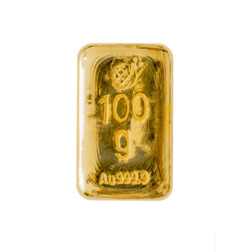 Lingotto Global Oro in oro puro fuso da 100 Grammi