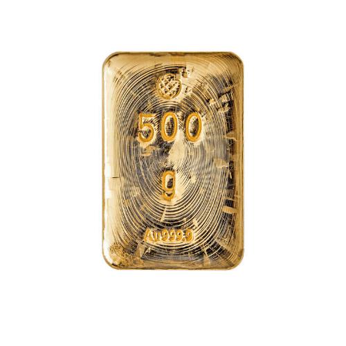 Lingotto Global Oro in oro puro fuso da 500 Grammi