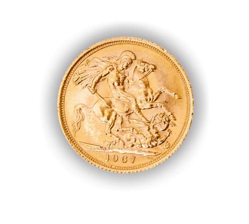 Sterlina d'oro retro