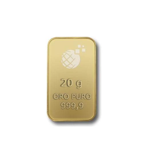 Lingotto Tranciato Global Oro 20 Grammi
